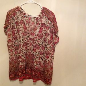 Women's Blouse Lucky Brand Size 1X Clothes